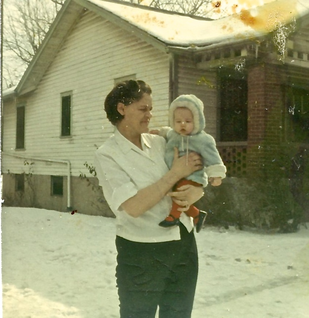 Grandma Ann and baby Teri 1965 - Version 2