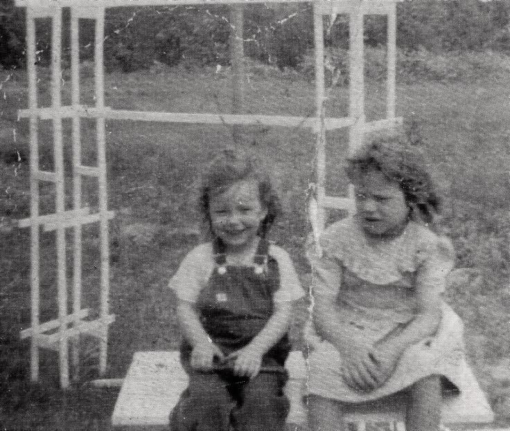 That's my mom with big sister, Mary.  1948.  They are both gone now.