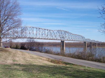 The old bridge, built in 1928.